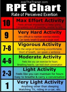 Rate of Perceived Exertion (RPE) Scale